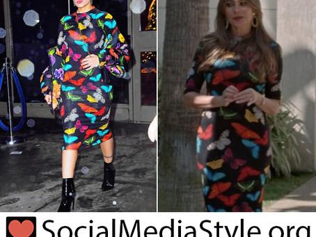 Halsey and Sofia Vergara's butterfly print dress