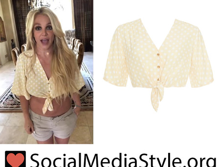 Britney Spears' yellow polka dot crop top