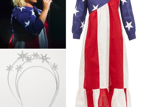 Katy Perry's star headband and American flag dress from Democracy Summer 2020