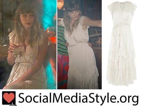 Taylor Swift's white ruffled dress