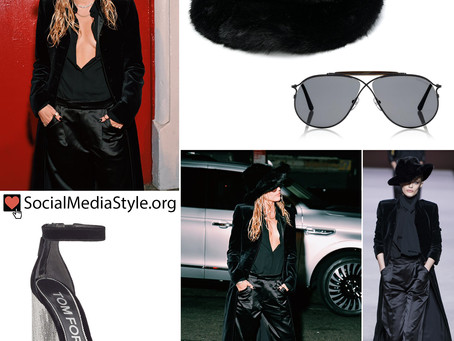 Miley Cyrus' black Tom Ford outfit