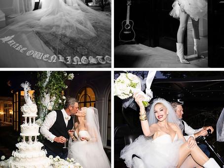 Gwen Stefani's wedding dresses and accessories