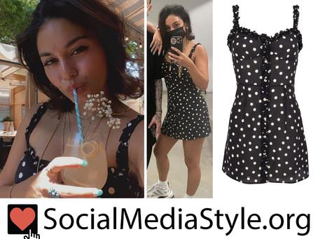 Vanessa Hudgens' black and white polka dot dress