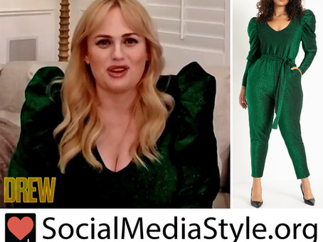 Rebel Wilson's green jumpsuit from The Drew Barrymore Show