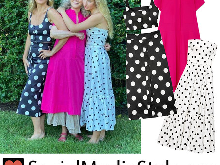 Gwyneth Paltrow and Apple Martin's polka dot looks and Blythe Danner's pink dress