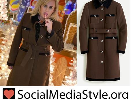 Rebel Wilson's wool coat
