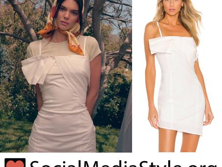 Kendall Jenner's Kendall + Kylie folded white dress