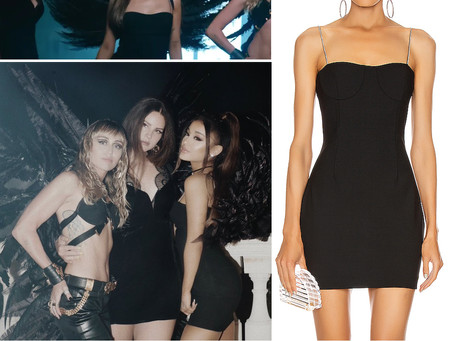 """Ariana Grande's black mini dress from the """"Don't Call Me Angel"""" video"""