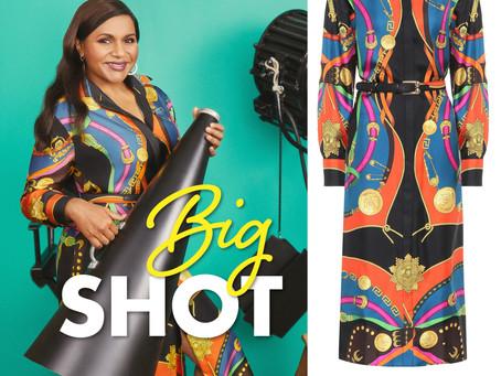 Mindy Kaling's western motif print shirt dress from Big Shot