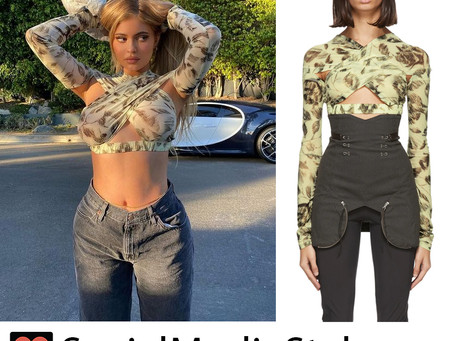 Kylie Jenner's cross-front top