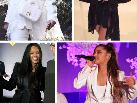 Kris Jenner, Rihanna, Britney Spears, and Ariana Grande's lace detail blazers