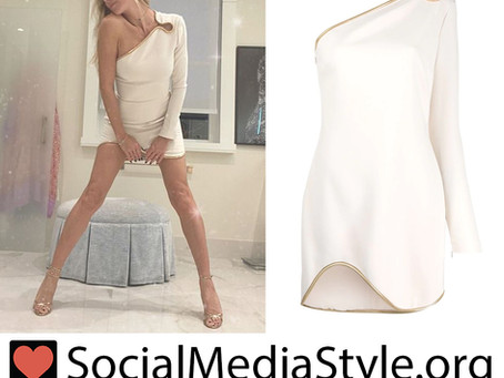 Heidi Klum's one shoulder white dress