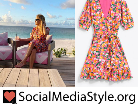 Reese Witherspoon's pink orange blossom print dress