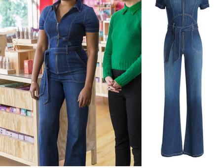 """Mia (Tiffany Haddish)'s denim jumpsuit from """"Like a Boss"""""""