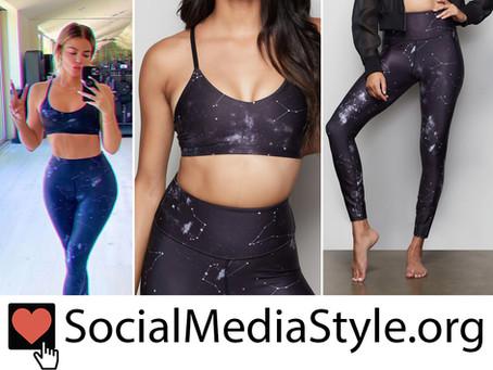Khloe Kardashian's Good American celestial sports bra and leggings