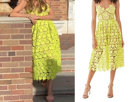 Sofia Vergara's neon yellow lace dress