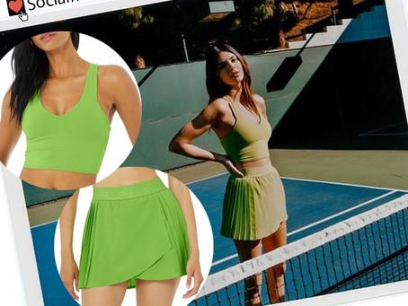 Kendall Jenner's green tank top and tennis skirt