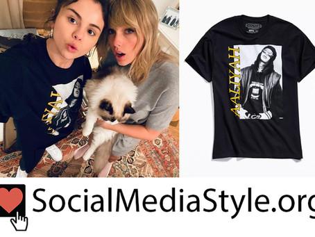 Selena Gomez's Aaliyah t-shirt