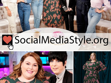 Chrissy Metz's green floral print dress from The Real
