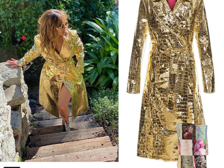 Halle Berry's gold coat and fun accessories