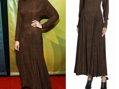 Mandy Moore's crocodile print dress from the 2020 Winter TCA Tour