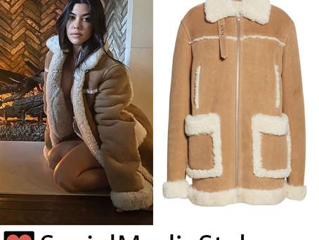 Kourtney Kardashian's shearling coat