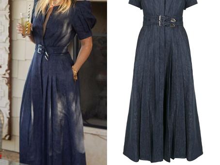 Kate Hudson's puff sleeve denim dress