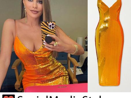 Sofia Vergara's orange sequin dress from America's Got Talent