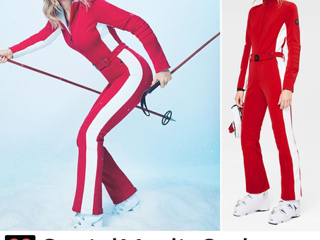 Taylor Swift's red ski suit from Variety