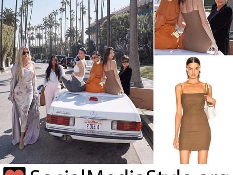 Kendall Jenner's brown mini dress