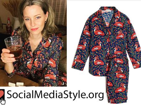 Elizabeth Banks' floral bird print pajamas