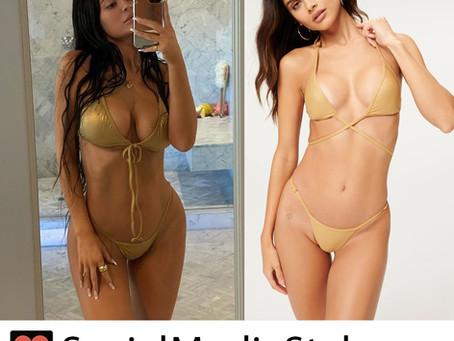 Kylie Jenner's Good American gold bikini