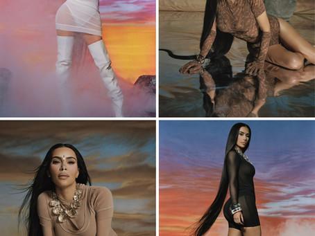 Kim Kardashian's Skims Summer Mesh looks