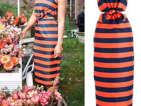 Mandy Moore's cutout striped dress