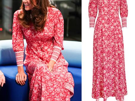 Kate Middleton's red floral print dress