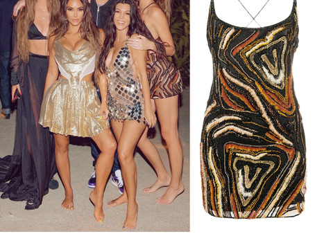 Kendall Jenner's embroidered mini dress