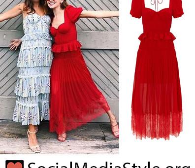 Zoey Deutch's red peplum dress