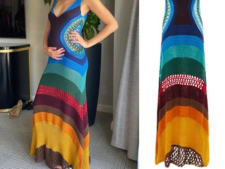 Gal Gadot's rainbow crochet dress from the Sun Valley Film Festival
