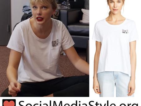 Taylor Swift's cat pocket t-shirt from Taylor Swift: Miss Americana