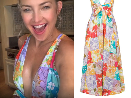 Kate Hudson's mixed floral print dress