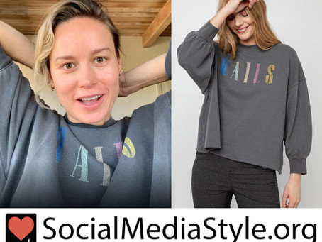Brie Larson's Rails sweatshirt