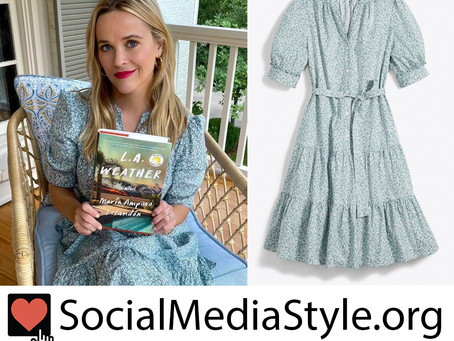 Reese Witherspoon's pale blue floral print dress