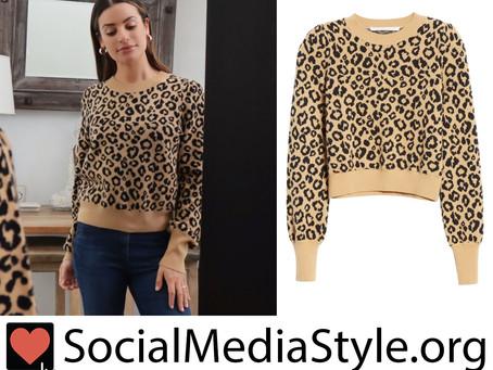 Lea Michele's leopard print sweater