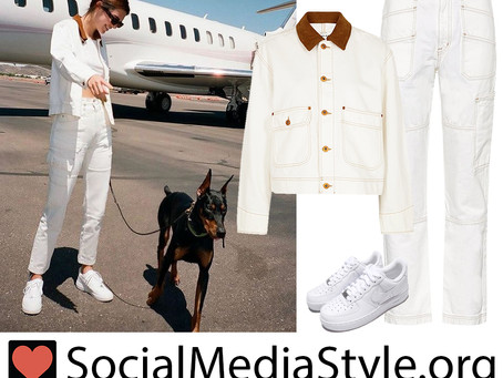 Kendall Jenner's white denim outfit