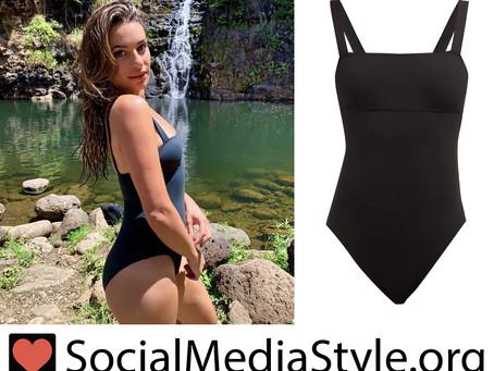 Lea Michele's black swimsuit