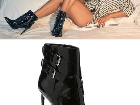 JLO Jennifer Lopez black patent booties