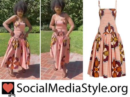 Kerry Washington's drop waist dress