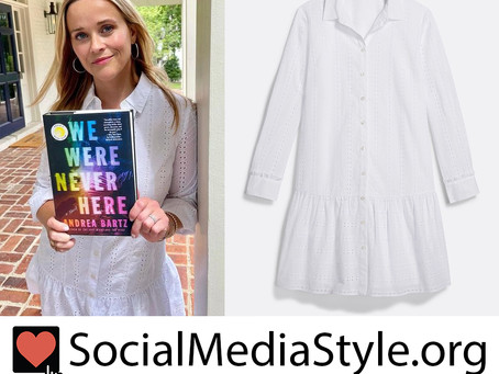 Reese Witherspoon's Draper James white eyelet dress