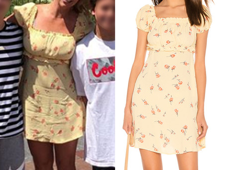 Britney Spears' yellow floral print dress from Disneyland