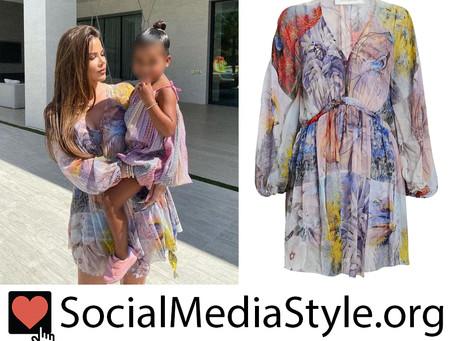 Khloe Kardashian's floral print dress